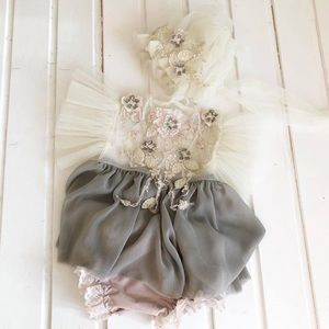 Other - Handmade Photo Prop Dress, Bonnet, & Bloomers